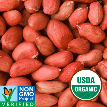 SHELLED PEANUTS - Certified Organic 5lb Bag